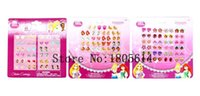 Wholesale sheets pairs fashion lovely girl EPOXY EMBOSSED CARTOON Mixed STICKs ON EARRING STICKER ACCESSORIE