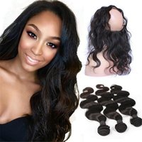 band elastic machine - Brazilian A Human Hair Elastic Band Lace Frontal Closure Body Wave Ear To Ear Lace Band Frontal With Hair Bundles
