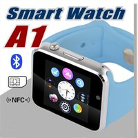 Wholesale A1 Smart Watch Bluetooth DZ09 U8 GT08 Smartwatch Apple iWatch Support SIM TF Card Smart Wrist Watches With Silicone Strap Smartphone with