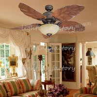 Wholesale Modern Creative Glass Ceiling Fan Lights Decorative Fans Ceiling Llight Living Room Chinese Style Lamps