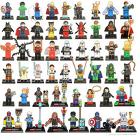 Wholesale 500pcs Single Sale Super Heroes Avengers Justice LeagueBatman Harley Quinn Silver Surfer Building Blocks Model Bricks Toys