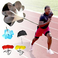 Wholesale Outdoor Sport Trianning Speed Training Resistance Parachute Running Chute Speed Chute Running Umbrella Colors Available DHL