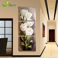 Wholesale 3 Piece Oil painting Living Room Modern Wall Painting Flower Decorative Wall Art Painting Pictures Print On Canvas No Frame