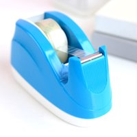 Wholesale Three year two class Deli stationery capable portable candy color tape adhesive tape cutter seat