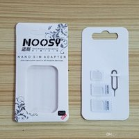 beautiful trays - 4 In Noosy Nano Micro SIM Card Adapter Eject Pin For iPhone S For iPhone plus with beautiful Retail Box
