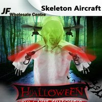 Wholesale Halloween gift Skeleton Luminous LED Lights Flash Aircraft Colorful Holiday Unmanned Aerial Wehicle with Controller For Party Gifts