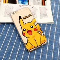 Wholesale 3D Ultra thin Cartoon Pocket Monsters Pikachu Case For iPhone SE S S Plus Ultrathin TPU Cover Case On s s SE c s Plus