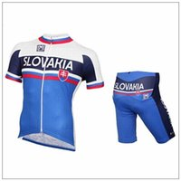 Wholesale Quick Dry Breathable Slovakia cycling clothing short sleeves cycling jersey bib short set maillot culote cycling jerseys
