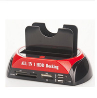 Wholesale 20pcs quot quot SATA IDE Double Dock HDD Docking Station e SATA Hub External Storage Enclosure Parts