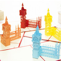 big greeting cards - 3D Paper Crafts Creative Hollowed out Big Ben Decoration Greeting Cards Paper Laser Cut Postcard Gifts