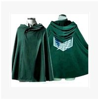 alan fashion - 2016 Fashion Investigation Corps onslaught of giant Alan Mikasa soldiers Changfeng cloak clothes Coat Wicca Robe Medieval Cape Shawl Hallowe