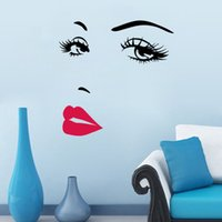 abstract faces art - DIY Beautiful Face Eyes And Lips Wall Art Sticker Painting Room Home Decoration Finished Size CM
