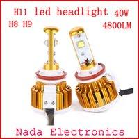 automotive led replacement lamps - 2PCS w lm H11 headlight H9 LED Car lamps Kit led Auto Front Light H8 Fog Bulb Automotive Headlamp replacement xenon bulb