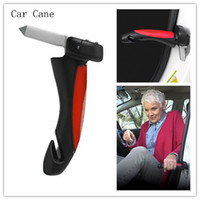 Wholesale Car Cane Portable Handle Car safety hammer handrail door armrest multifunctional new TV escape hammer lifesaving hammer with lamp LED