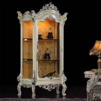 antique wood cabinets - Antique luxury dining room furniture solid wood handcraft royalty wine cabinet