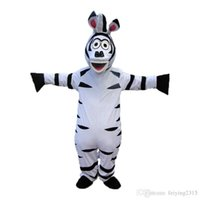 Wholesale High quality Zebra Mascot Cartoon Animal Mascot Costumes Halloween Costume Fany Dress Adult Size
