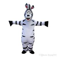 La mascotte de haute qualité de mascotte de bande dessinée de mascotte de zèbre habille la robe de costume de Fany de costumes d'Halloween
