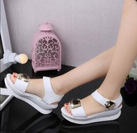 Wholesale Sexy Heavy Bottom - 2016 summer new European and American nightclub sexy sandals women Rhinestone heavy-bottomed female sandals white sandals summer women sanda