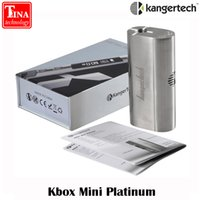 Wholesale Original Kanger KBOX Mini Platinum Box Mod Temperature Control TC W silver for Battery for