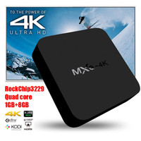 Wholesale MXQ K TV Box Smart Boxes Rockchip RK3229 KODI Fully Loaded H K tps Support HD Media Player DHL Free OTH107