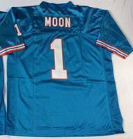 Wholesale Steve McNair Warren Moon Earl Campbell Matthews Throwback Football Jerseys Men Stitched and Embroidery Jerseys