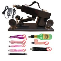 automatic updater - Updater Version automatic Sex Machine Gun Set with Big Dildo and Vagina Cup Adjustable Speed Pumping Gun Sex Toys for Men and Women