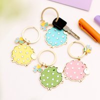 Wholesale Creative Sheep Keychains Lovely Lamb Key Chains Women Bag Accessories Key Rings Good Gifts for Friends