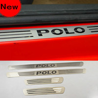 Wholesale VW Polo car Stainless Steel Door Sill Scuff Plate Article threshold auto accessories