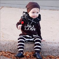 baby boy news - 6 Styles Kids Ins Clothing Sets Summer Outfits Fashion Baby Ins Suits Boys Letter T Shirts Pants Ins Grid Stripe Tops Trousers News