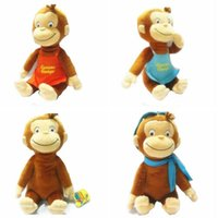 baby doll boots - 1pcs quot cm Curious GEORGE Plush Doll BOOTS Monkey Plush Stuffed Animal Toys for baby girls