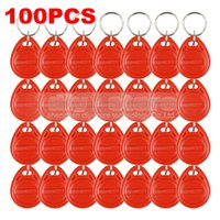 Wholesale 100pcs Khz RFID Card Key fobs Key Chian for Access Control System Kit RFID Reader Use Red