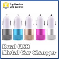 best iphone car adapter - Best Sale Metal Dual USB Port Car Adapter Charger Universal Volt Amp for Apple iPhone iPad iPod Samsung Galaxy Moto Nokia Htc