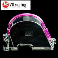 Wholesale VR RACING CLEAR CAM GEAR COVER TIMING BELT COVER TURBO CAM PULLEY WITH LOGO FOR HONDA EK VR6337