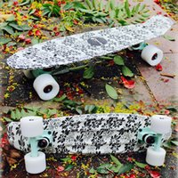 Wholesale skate street board skateboard trucks four wheel longboard banana fish skate board mini cruiser long Skateboard