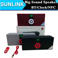 alarm clock car - MS NFC Alarm Clock Function Wireless Bluetooth Speaker Mp3 Player Stereo Hi Fi Subwoofer Sound Micro Car Speakers FM MP3 TF Card U disk