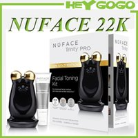 Wholesale 22K Gold Nuface Trinity PRO Facial Trainer kit Skin Care Device Face Massager Electric Roller VS Tripollar Stop PMD Silk n FaceFX