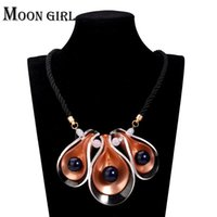 Wholesale Maxi flower pendant choker necklace classic New trendy fashion boho jewelry display color statement necklace women accessories