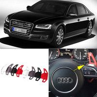 Wholesale 2pcs Brand New Alloy Add On Steering Wheel DSG Paddle Shifters Extension For Audi A8 Automotive Interior Parts