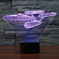 Wholesale D Design Bulbing Lamp Star Trek Iron Man Star Ship USS Enterprise NCC Color Changing LED Desk Lamp