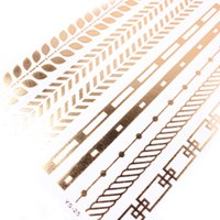 Wholesale MIXED Temporary Tatto Gold Foil Tatoo Golden Decal Women Men Body Art Wings Bird Feather Temp Metallic Tattoo Stickers Sexy Fashion