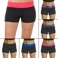 Wholesale Hot Fashion Womens Casual Yoga Sports Fitness Running Gym Elastic Shorts Workout Short Free Size Color Random