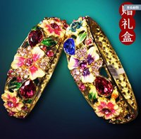 beijing bangles - China features crafts Cloisonne hollow diamond bracelet authentic Beijing female gold jewelry fine Korean shipping
