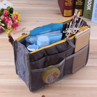 Wholesale Protable Multifunctional Cosmetic Bags Multicolors2 zippers Blending Makeup Bags Man woman Fashion Travel Makeup Hand bag
