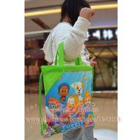 Wholesale Hot style Cartoon Bubble Guppies cm backpacks bag Drawstring Backpack bags Classical Cartoon Bags Kids School Bags Kids part Favor