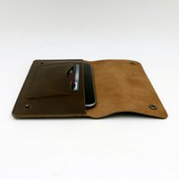 Wholesale Genuine leather unisex long vintage wallet Note Compartment thread hasp card holder christmas gift purse