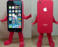 apple movie - 2016Hot sale Mascot Costume Cell Phone Apple iPhone C Adult Size