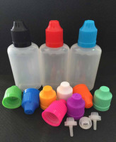 Wholesale EMS shipping plastic empty E Liquid oil bottles Plastic E Juice Bottles PE ml Dropper Bottles with Child Proof Bottle Caps
