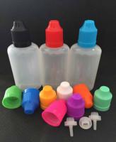 Wholesale EMS shipping plastic empty E Liquid oil bottles Plastic E Juice Bottles PE ml Dropper Bottles with Child Proof Bottle Caps