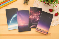 Wholesale Vintage Romatic Starry Sky Series Kraft Paper Notebook Journal Diary Notepad Vintage Soft Copybook Daily Memos Pads