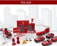 Wholesale Kids Toys For Children Alloy Truck Model toy TRUCK alloy Car alloy toy police suit toys alloy fire truck suit engineering suit toys